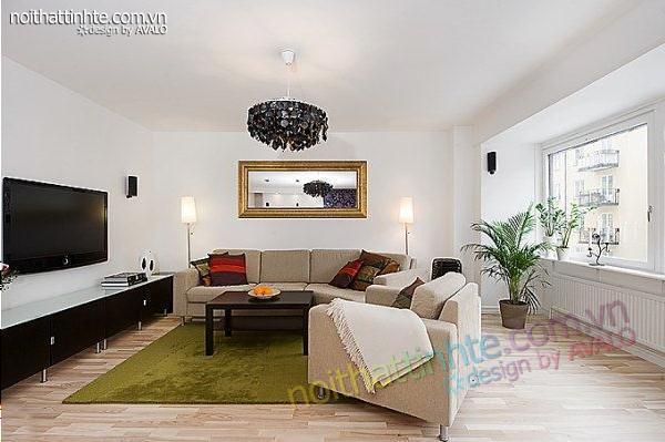 thiết kế nội thất chung cư trẻ trung tinh tế 02
