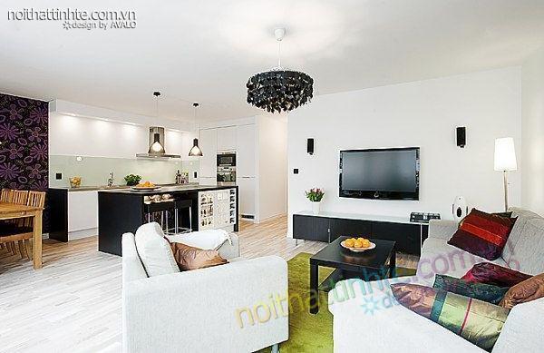thiết kế nội thất chung cư trẻ trung tinh tế 9