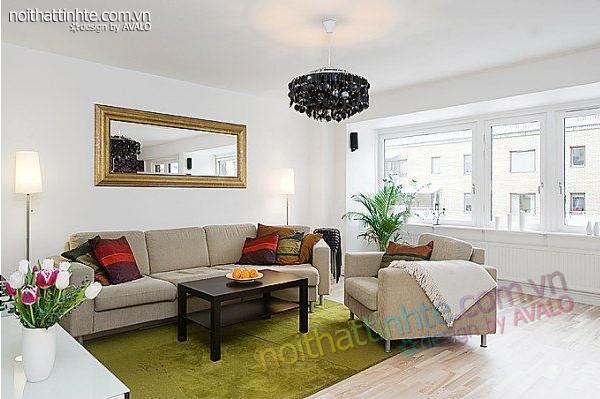 thiết kế nội thất chung cư trẻ trung tinh tế 16
