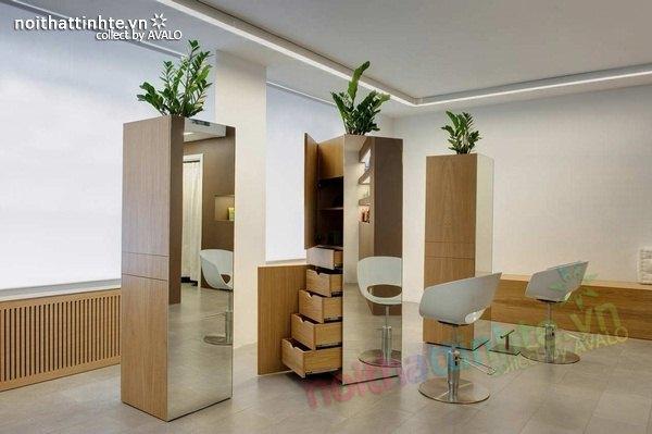 Thiết kế cửa hàng tóc Pepe Style 05