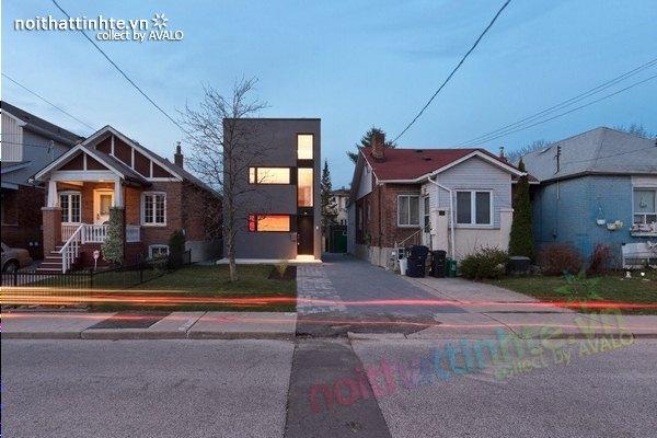 Mặt tiền nhà đẹp 3 tầng ở phố Ontario 02
