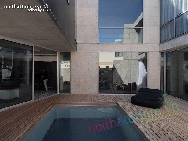 Mẫu nhà phố đẹp với bể bơi trong nhà 10