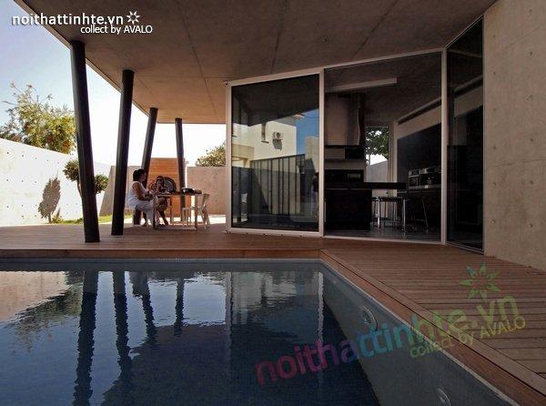 Mẫu nhà phố đẹp với bể bơi trong nhà 11