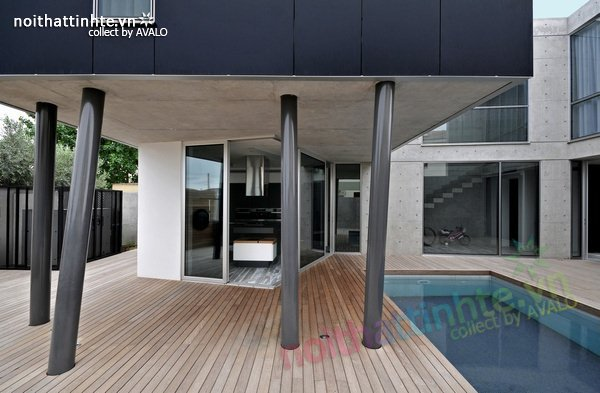 Mẫu nhà phố đẹp với bể bơi trong nhà 09