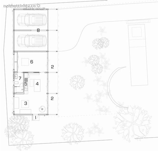 mẫu nhà nghỉ dưỡng 1 tầng đẹp 16