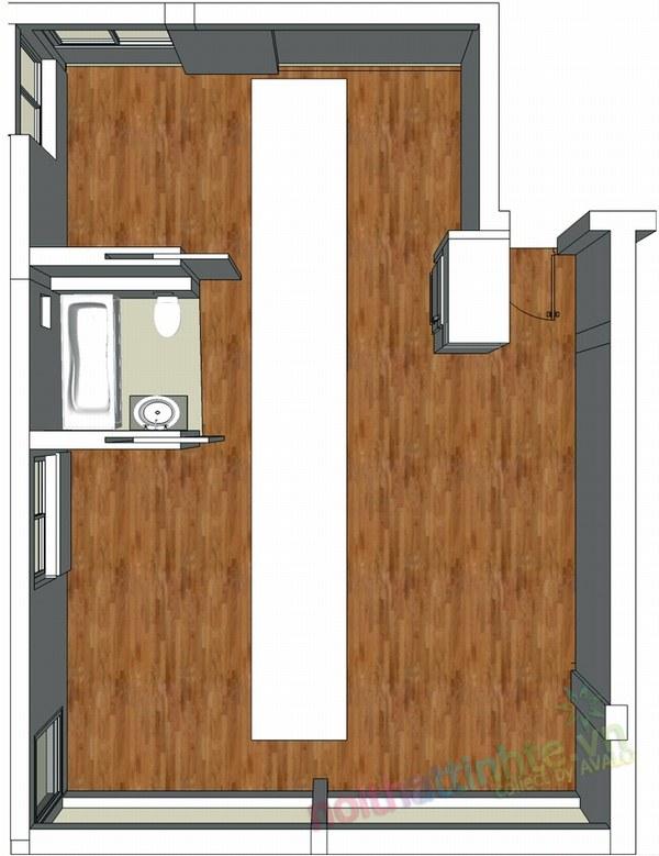 Thiết kế nội thất chung cư 60 m2 07
