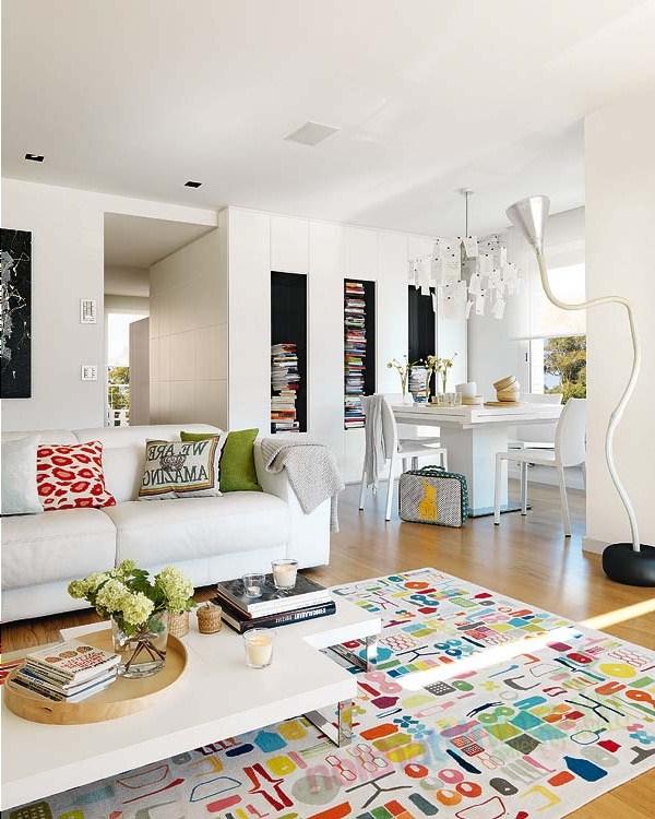 Thiết kế nội thất chung cư với màu sắc hỗn hợp 02