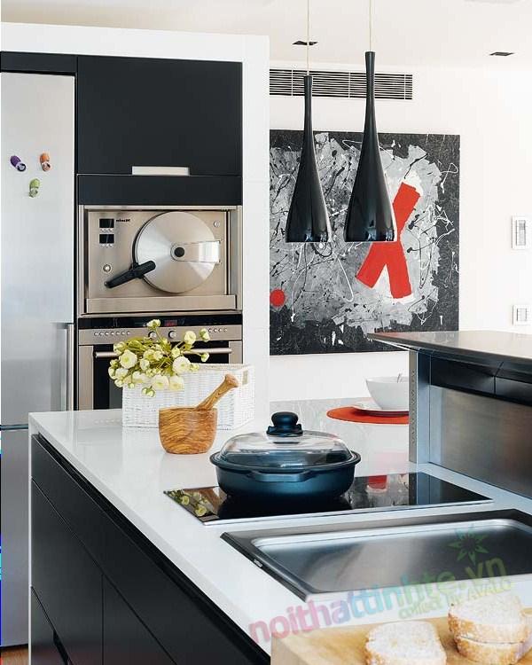 Thiết kế nội thất chung cư với màu sắc hỗn hợp 05