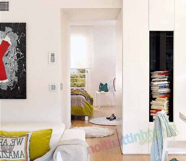 Thiết kế nội thất chung cư với màu sắc hỗn hợp 07