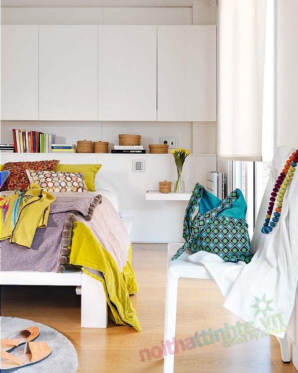 Thiết kế nội thất chung cư với màu sắc hỗn hợp 09