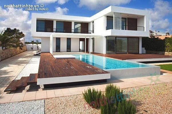 Biệt thự đẹp 2 tầng ở bãi biển Barcelona 01