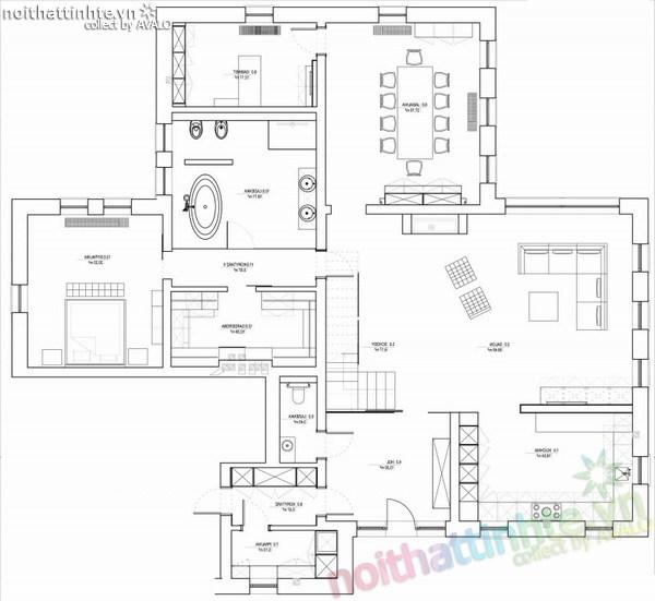 Thiết kế nội thất biệt thự đẹp Konstancin – Ba Lan 10