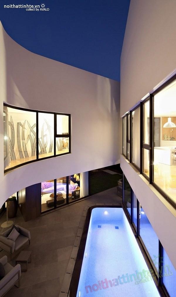 Mẫu nhà đẹp 2 tầng hình tròn ở Kuwait 02