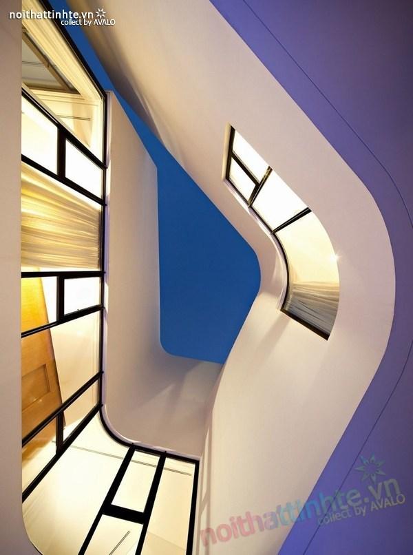 Mẫu nhà đẹp 2 tầng hình tròn ở Kuwait 03