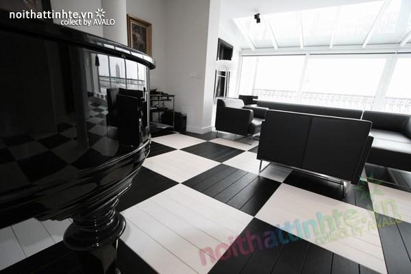 Thiết kế nội thất văn phòng màu đen và trắng 02