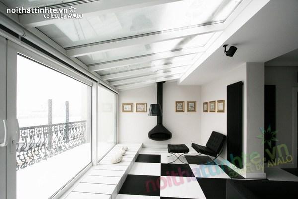 Thiết kế nội thất văn phòng màu đen và trắng 03