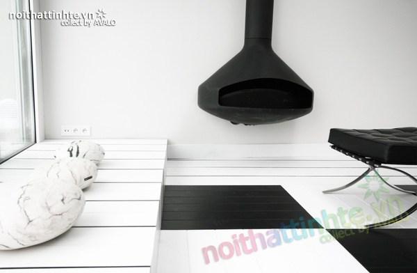 Thiết kế nội thất văn phòng màu đen và trắng 06