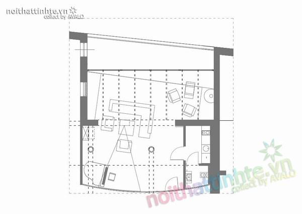 Thiết kế nội thất văn phòng màu đen và trắng 07