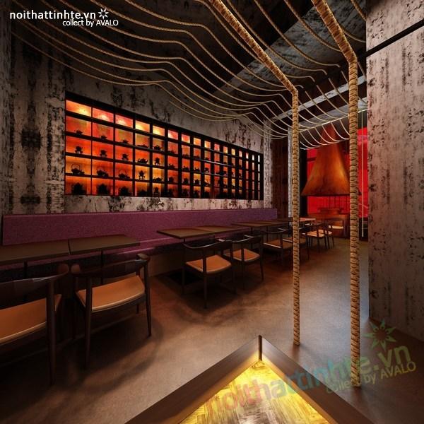 Thiết kế nội thất nhà hàng Kemuri - Thượng Hải 10