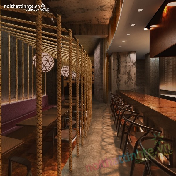 Thiết kế nội thất nhà hàng Kemuri - Thượng Hải 03
