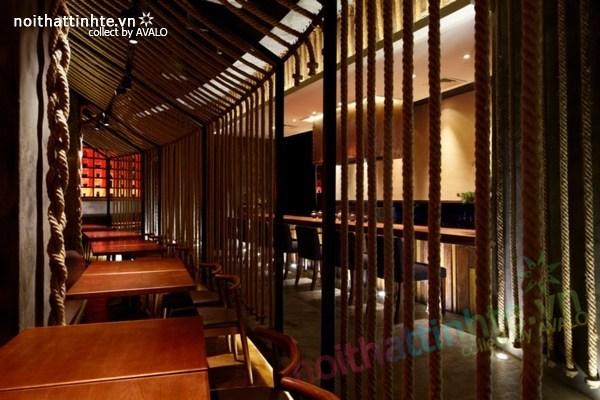 Thiết kế nội thất nhà hàng Kemuri - Thượng Hải 04