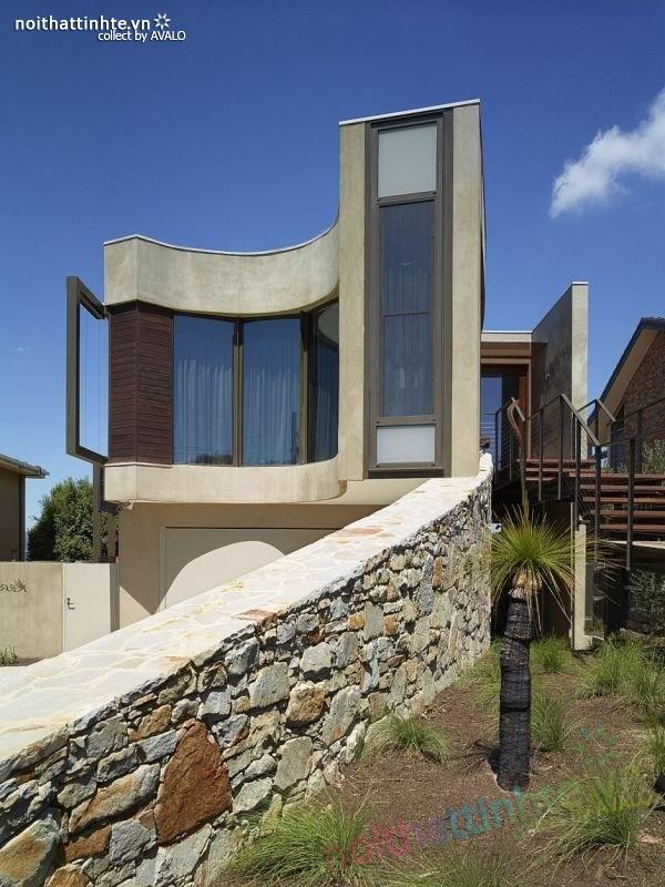 Mẫu nhà đẹp 2 tầng với kiến trúc hiện đại 01