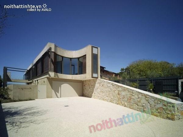 Mẫu nhà đẹp 2 tầng với kiến trúc hiện đại 02