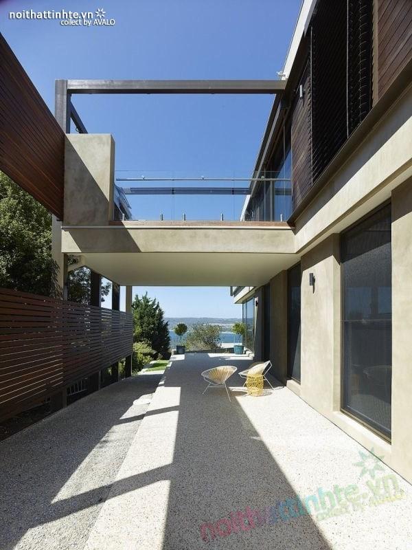 Mẫu nhà đẹp 2 tầng với kiến trúc hiện đại 03