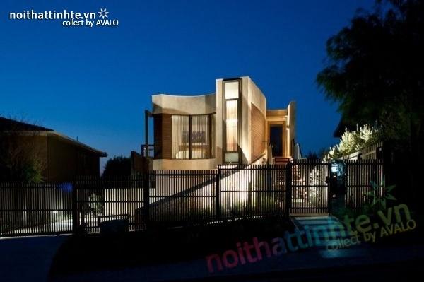 Mẫu nhà đẹp 2 tầng với kiến trúc hiện đại 04