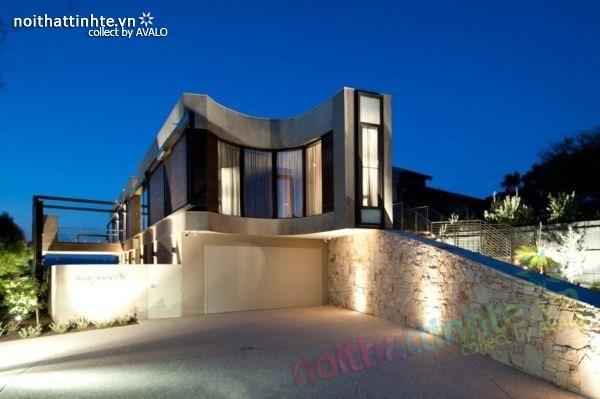 Mẫu nhà đẹp 2 tầng với kiến trúc hiện đại 05