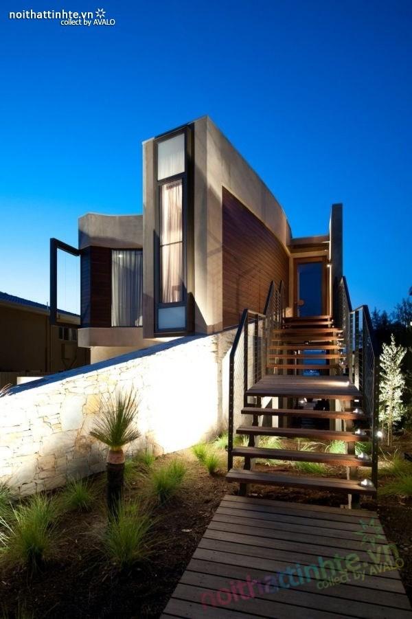 Mẫu nhà đẹp 2 tầng với kiến trúc hiện đại 06