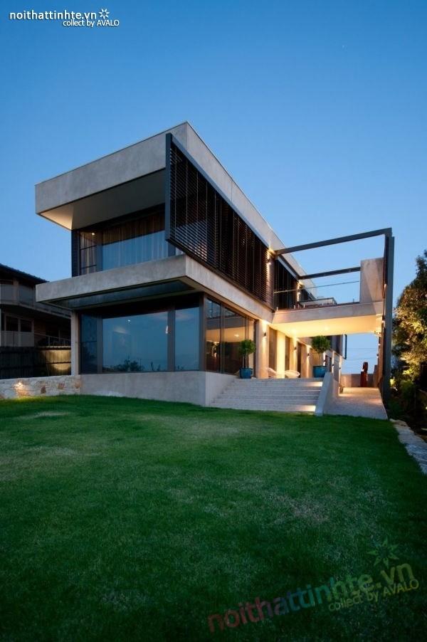 Mẫu nhà đẹp 2 tầng với kiến trúc hiện đại 07