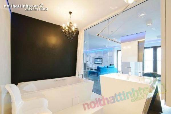 Thiết kế nội thất chung cư với màu sắc tương phản 10
