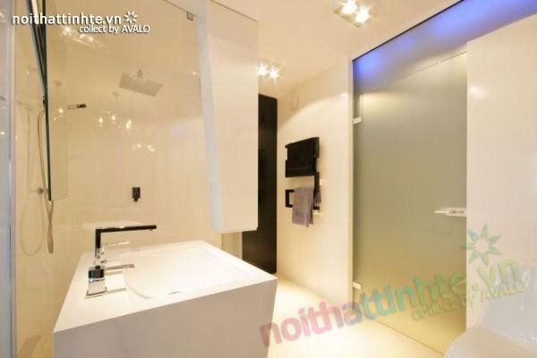 Thiết kế nội thất chung cư với màu sắc tương phản 11