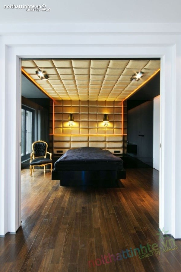 Thiết kế nội thất chung cư với màu sắc tương phản 07