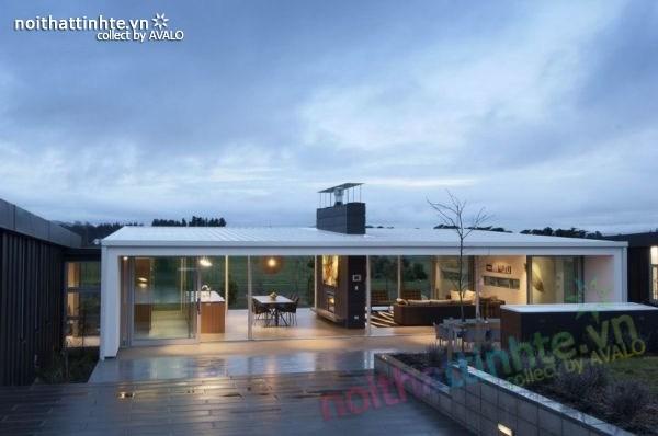 Mẫu nhà đẹp 1 tầng với cấu trúc hiện đại 02