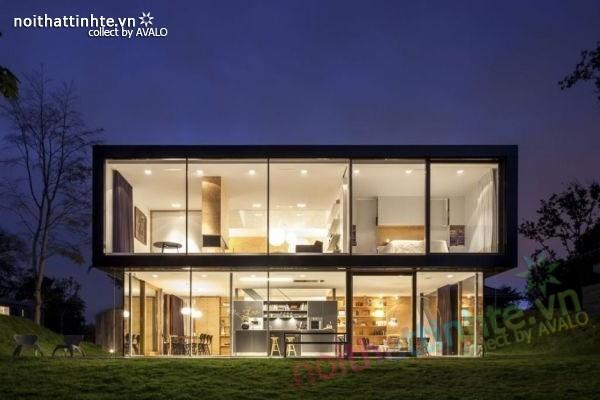 Mẫu nhà đẹp 2 tầng V-Villa đầy hiện đại 01