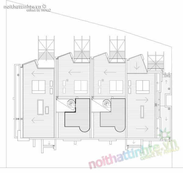 Thiết kế nhà lô phố Elwod - KTS Alcock 09
