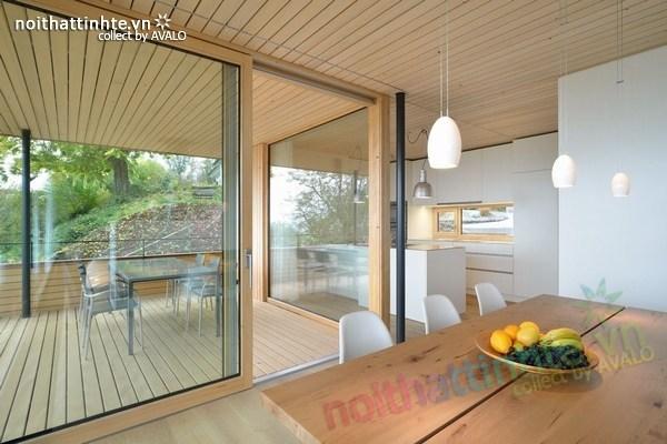 Mẫu nhà đẹp 2 tầng nằm trên sườn dốc ở Thụy Sỹ 09