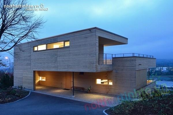Mẫu nhà đẹp 2 tầng nằm trên sườn dốc ở Thụy Sỹ 10