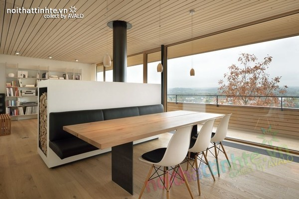 Mẫu nhà đẹp 2 tầng nằm trên sườn dốc ở Thụy Sỹ 02