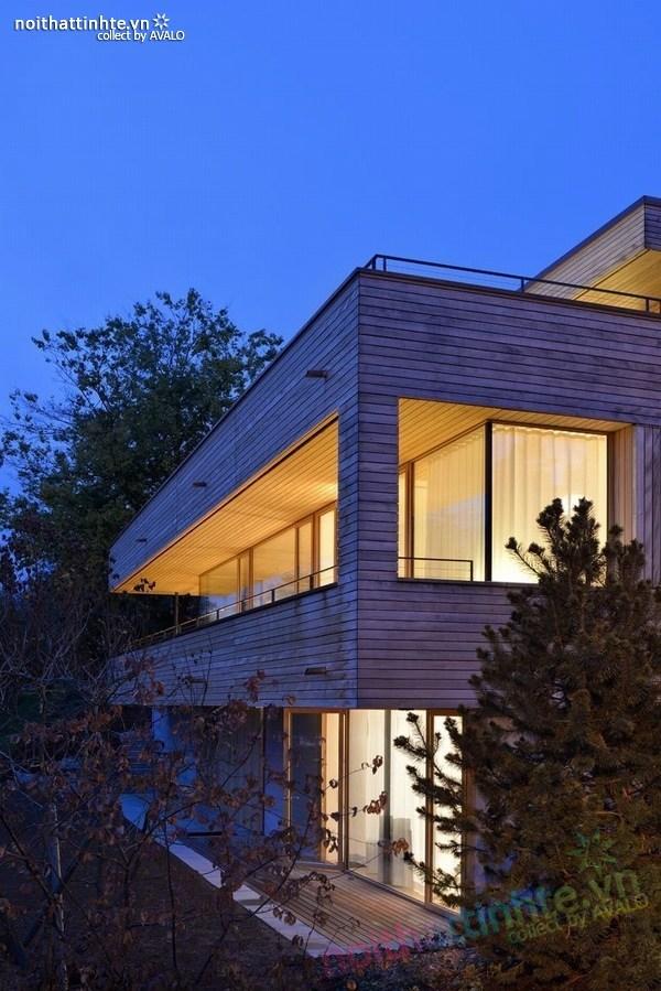Mẫu nhà đẹp 2 tầng nằm trên sườn dốc ở Thụy Sỹ 04