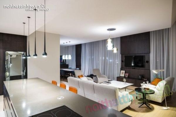Thiết kế nội thất chung cư sang trọng và hiện đại ở Warsaw 12
