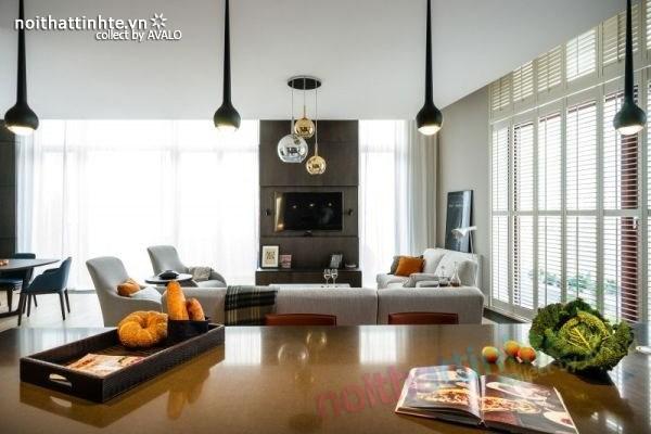 Thiết kế nội thất chung cư sang trọng và hiện đại ở Warsaw 02