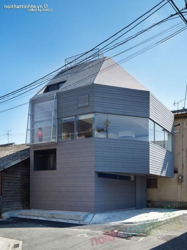 Mẫu nhà cấp 4 đẹp với hình dạng bất thường ở Nhật Bản 02