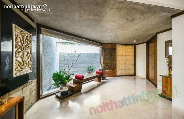 Biệt thự đẹp 1 tầng sang trọng ở Ấn Độ 02