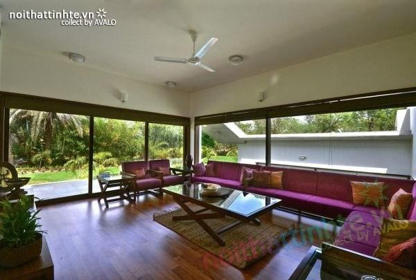 Biệt thự đẹp 1 tầng sang trọng ở Ấn Độ 07