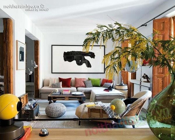Thiết kế nội thất chung cư bùng nổ với màu sắc ở Madrid 02