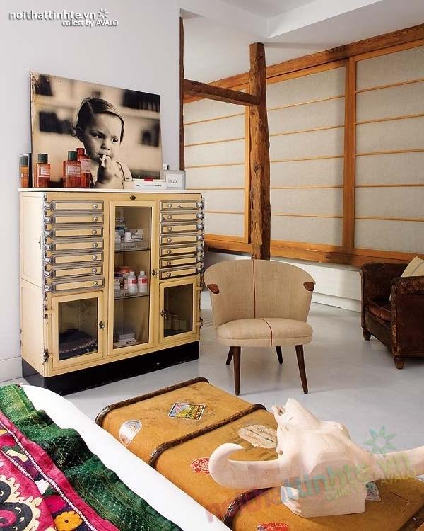 Thiết kế nội thất chung cư bùng nổ với màu sắc ở Madrid 08