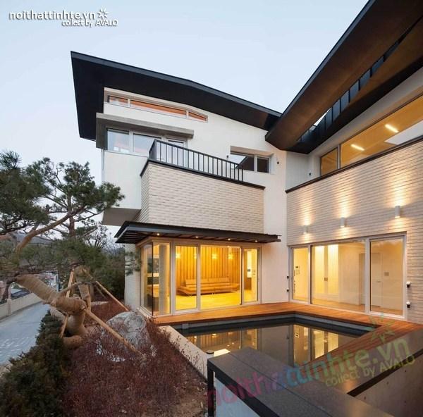 Nhà đẹp 2 tầng hình chữ V ở Hàn Quốc 05